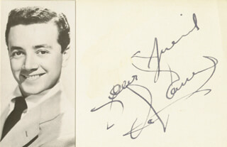 VIC DAMONE - AUTOGRAPH SENTIMENT SIGNED
