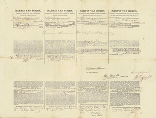 PRESIDENT MARTIN VAN BUREN - FOUR LANGUAGE SHIPS PAPERS SIGNED 10/05/1840 CO-SIGNED BY: JOHN FORSYTH