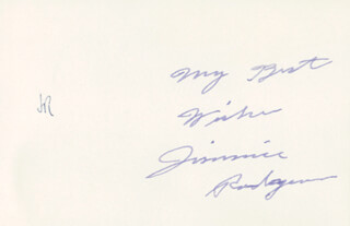 JIMMIE F. RODGERS - AUTOGRAPH SENTIMENT SIGNED