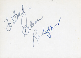 EILEEN RODGERS - INSCRIBED SIGNATURE