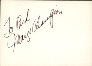 Autographs: MARGE CHAMPION - INSCRIBED SIGNATURE