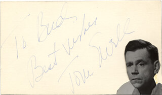 TOM EWELL - INSCRIBED SIGNATURE