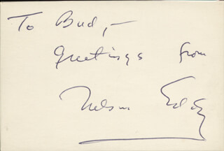 NELSON EDDY - INSCRIBED SIGNATURE