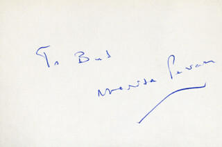 MARISA PAVAN - INSCRIBED SIGNATURE