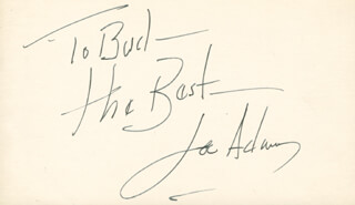 Autographs: JOEY ADAMS - AUTOGRAPH NOTE SIGNED