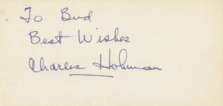 CHARLES HOLMAN - AUTOGRAPH NOTE SIGNED