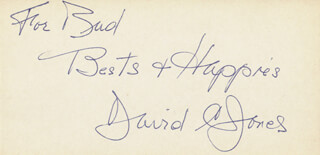 GENERAL DAVID C. JONES - AUTOGRAPH NOTE SIGNED