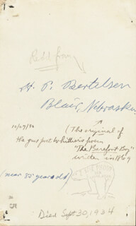 Autographs: HANS PETER BERTELSEN - PHOTOGRAPH SIGNED