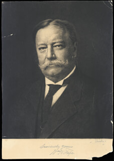 PRESIDENT WILLIAM H. TAFT - AUTOGRAPHED SIGNED PHOTOGRAPH