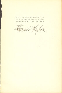 Autographs: CHIEF JUSTICE CHARLES E HUGHES - SIGNATURE(S)
