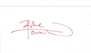 THE WHO (PETER TOWNSHEND) - AUTOGRAPH