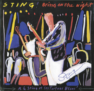 STING (GORDON SUMNER) - RECORD ALBUM COVER SIGNED