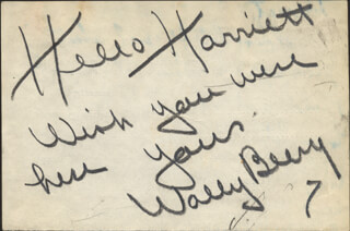 WALLACE BEERY - AUTOGRAPH NOTE SIGNED