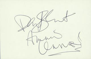 THE EURYTHMICS - AUTOGRAPH CO-SIGNED BY: THE EURYTHMICS (ANNIE LENNOX), THE EURYTHMICS (DAVID STEWART)