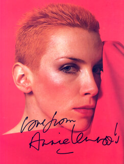 THE EURYTHMICS (ANNIE LENNOX) - MAGAZINE PHOTOGRAPH SIGNED