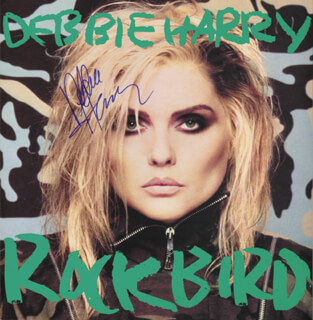 DEBORAH HARRY - RECORD ALBUM COVER SIGNED