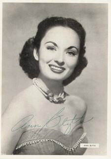 ANN BLYTH - AUTOGRAPHED SIGNED PHOTOGRAPH