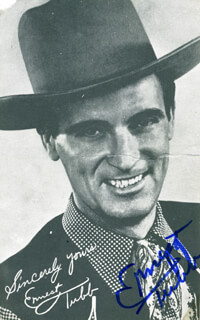 ERNEST TUBB - PHOTOGRAPH SIGNED TWICE 1981