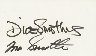 THE SMOTHERS BROTHERS - AUTOGRAPH CO-SIGNED BY: SMOTHERS BROTHERS (DICK SMOTHERS), SMOTHERS BROTHERS (TOM SMOTHERS)