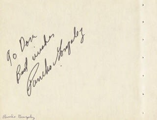 PANCHO GONZALEZ - AUTOGRAPH NOTE SIGNED CO-SIGNED BY: ALFIE HOWARD