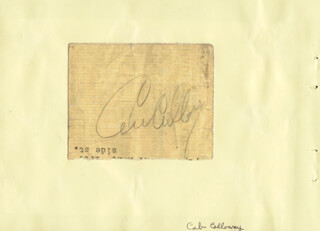 CAB CALLOWAY - AUTOGRAPH CO-SIGNED BY: COLLEEN MOORE