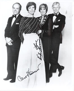 CAROL BURNETT - AUTOGRAPHED SIGNED PHOTOGRAPH CO-SIGNED BY: VICKI LAWRENCE