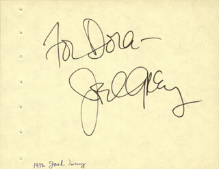 JOEL GREY - INSCRIBED SIGNATURE CO-SIGNED BY: EILEEN HECKART