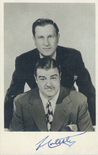 ABBOTT & COSTELLO (LOU COSTELLO) - AUTOGRAPHED SIGNED PHOTOGRAPH