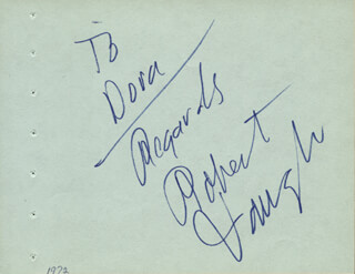 ROBERT VAUGHN - AUTOGRAPH NOTE SIGNED