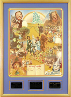 WIZARD OF OZ MOVIE CAST - AUTOGRAPHED SIGNED POSTER CO-SIGNED BY: JACK HALEY SR., RAY BOLGER