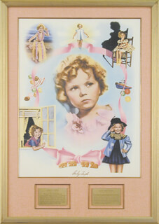 Autographs: SHIRLEY TEMPLE - POSTER SIGNED