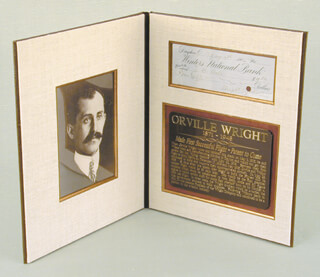 ORVILLE WRIGHT - CHECK SIGNED-WRIGHT CYCLE/ORVILLE WRIGHT 05/08/1905 CO-SIGNED BY: FRANK B. HALE