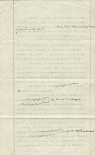 PRESIDENT JAMES A. GARFIELD - DOCUMENT UNSIGNED