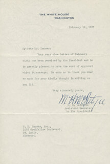 MARVIN HUNTER MCINTYRE - TYPED LETTER SIGNED 02/16/1937