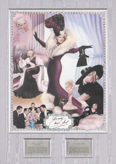 Autographs: MAE WEST - POSTER SIGNED