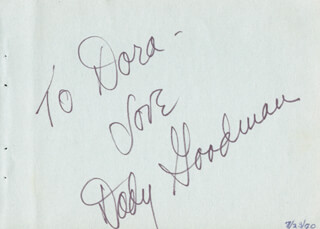 DODY GOODMAN - AUTOGRAPH NOTE SIGNED