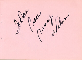NANCY WILSON - AUTOGRAPH NOTE SIGNED CIRCA 1971 CO-SIGNED BY: KAREN MORROW
