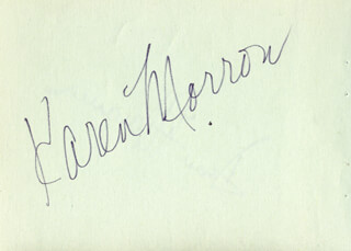 KAREN MORROW - AUTOGRAPH CIRCA 1971 CO-SIGNED BY: DEAN DITTMAN
