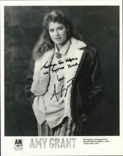 AMY GRANT - PRINTED PHOTOGRAPH SIGNED IN INK
