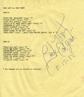 Autographs: BUCK TRENT - TYPESCRIPT SIGNED 08/17/1985