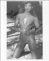 TRACY SCOGGINS - AUTOGRAPHED SIGNED PHOTOGRAPH 1987