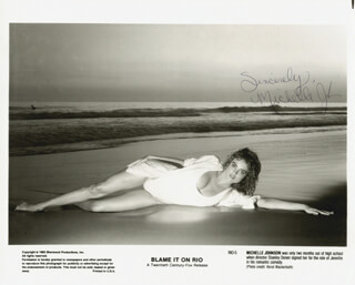 MICHELLE JOHNSON - AUTOGRAPHED SIGNED PHOTOGRAPH CIRCA 1983