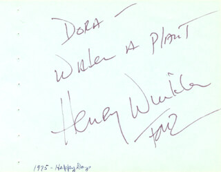 HENRY THE FONZ WINKLER - AUTOGRAPH NOTE SIGNED CIRCA 1975