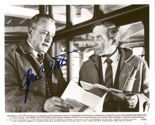 GEORGE C. SCOTT - AUTOGRAPHED SIGNED PHOTOGRAPH CIRCA 1980
