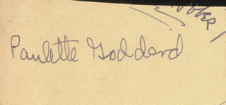 PAULETTE GODDARD - CLIPPED SIGNATURE