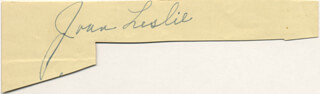 JOAN LESLIE - CLIPPED SIGNATURE