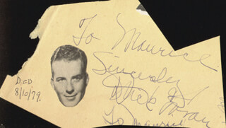 DICK FORAN - AUTOGRAPH NOTE SIGNED