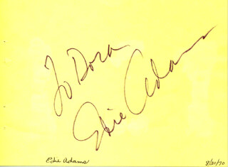 Autographs: EDIE ADAMS - INSCRIBED SIGNATURE 08/20/1970