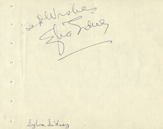 SYLVIA SIDNEY - AUTOGRAPH SENTIMENT SIGNED