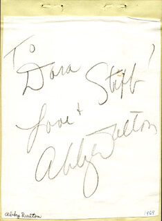 ABBY DALTON - AUTOGRAPH NOTE SIGNED